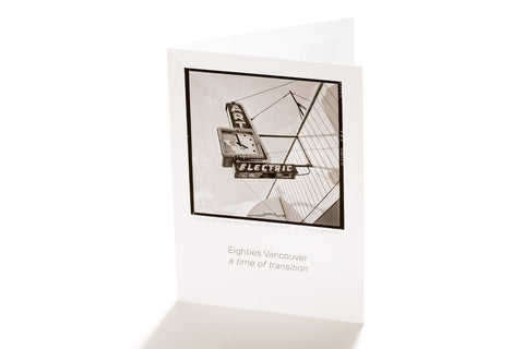 Electric Art,Broadway, Vancouver, 1986 (Greeting Card)