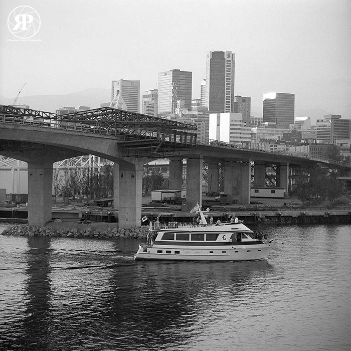 Construction of New Cambie Bridge, Vancouver, 1986 (Limited Edition Print)
