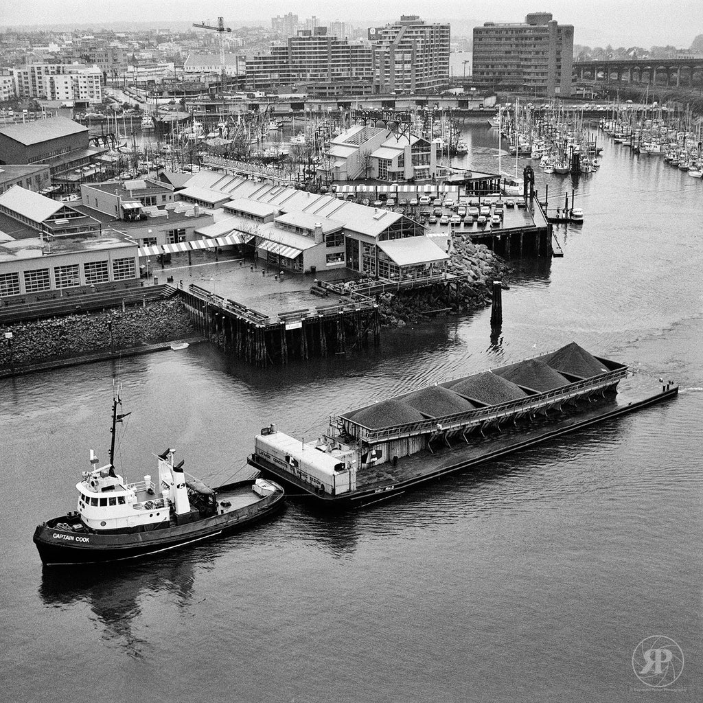 Captain Cook Tug Passes Granville Island, Vancouver, 1985 (Limited Edition Print)