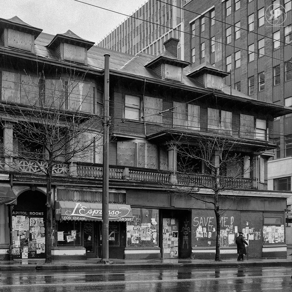 The Condemned Orillia Building, Robson & Seymour, 1985 (Limited Edition Print)