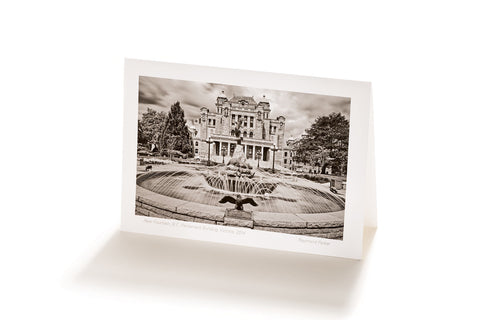 Rear Fountain, Parliament Building, Victoria, (Greeting Card)