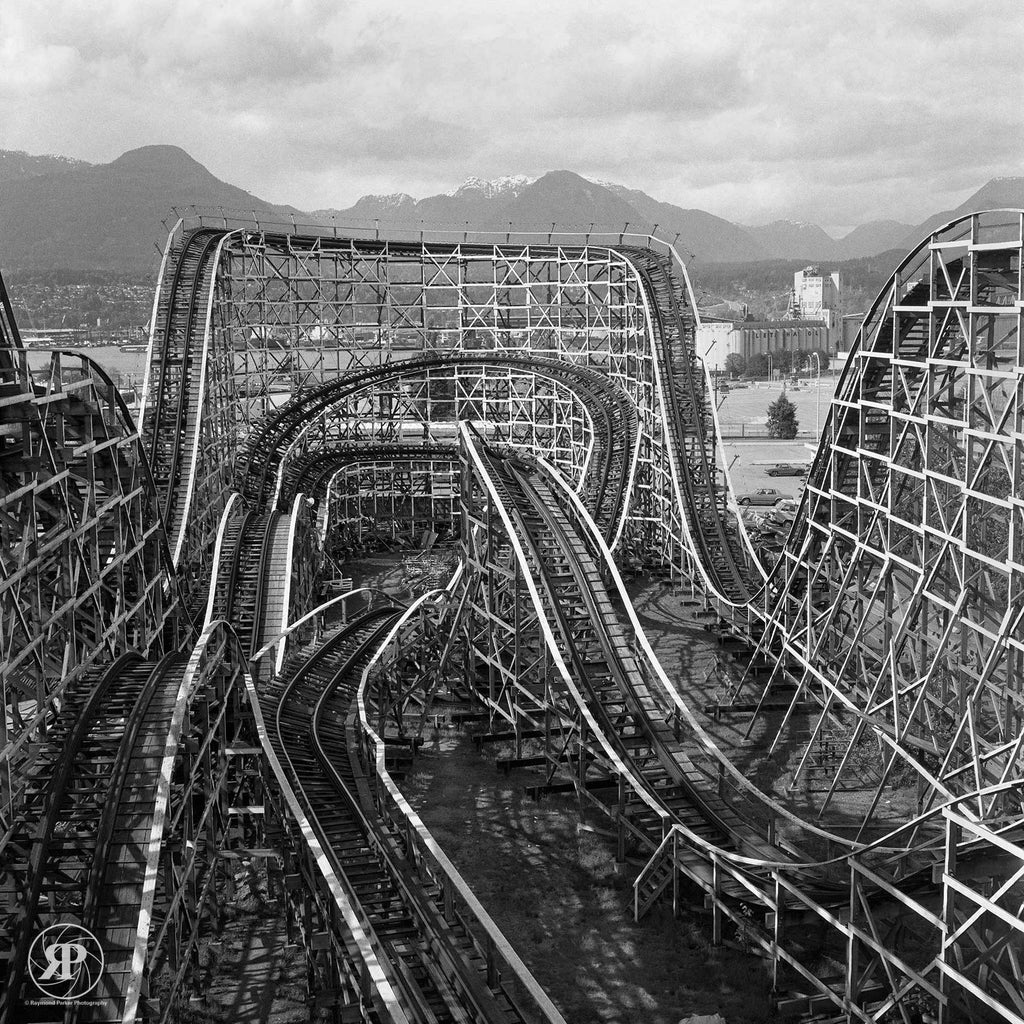 Wooden Roller Coaster, Vancouver, 1986 (Limited Edition Print)