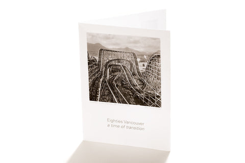 Wooden Roller Coaster, Vancouver, 1986 (Greeting Card)