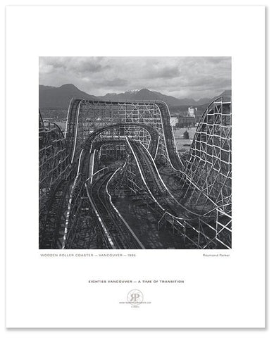 Wooden Roller Coaster, Vancouver, 1986 (Lithographed Poster)
