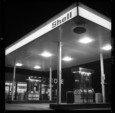 Shell Gas Station, West 10th & Discovery, Vancouver, 1986 (Limited Edition Print)
