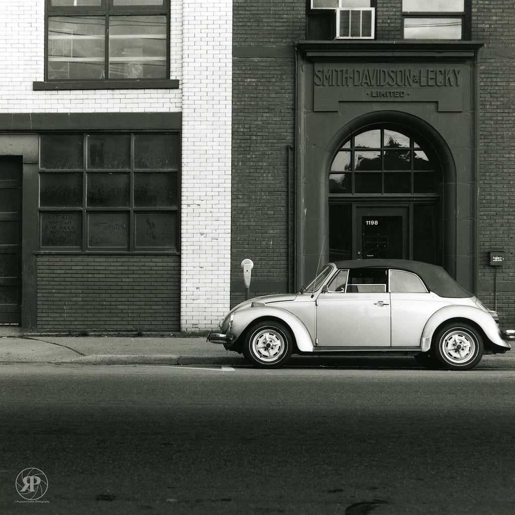 Smith Davidson & Lecky Building with Volkswagen Beetle Cabriolet, Homer Street, Vancouver, 1985 (Limited Edition Print)