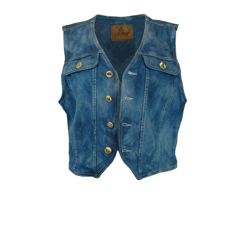Dyed Denim Vest