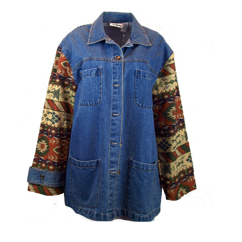Multi-Cultural Inspired Denim Coat