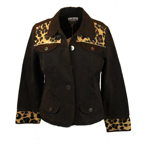 Leopard Trimmed Jacket with Just a Bit of Glitz