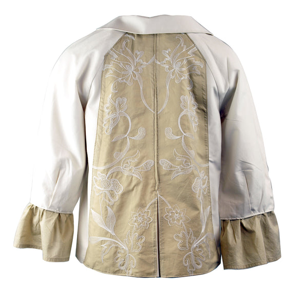 Swing jacket with detailed panels