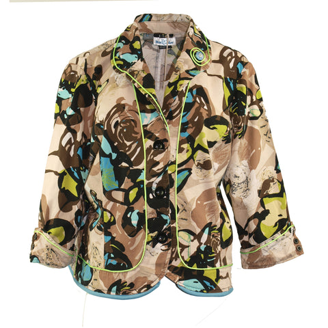 Tropical Print Jacket
