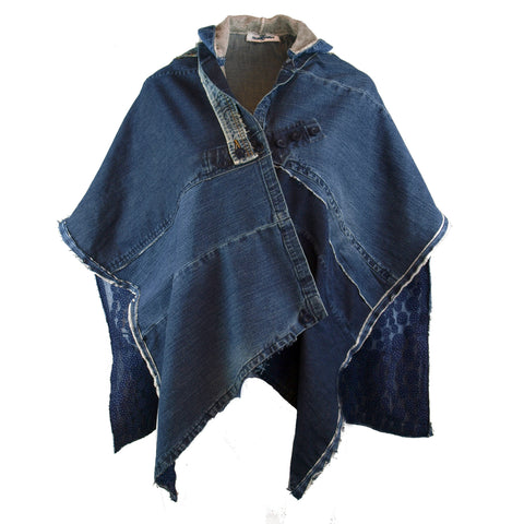 Hoard Couture Original Denim Hoodie Cape