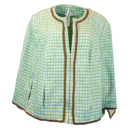 Green Tweed Cape