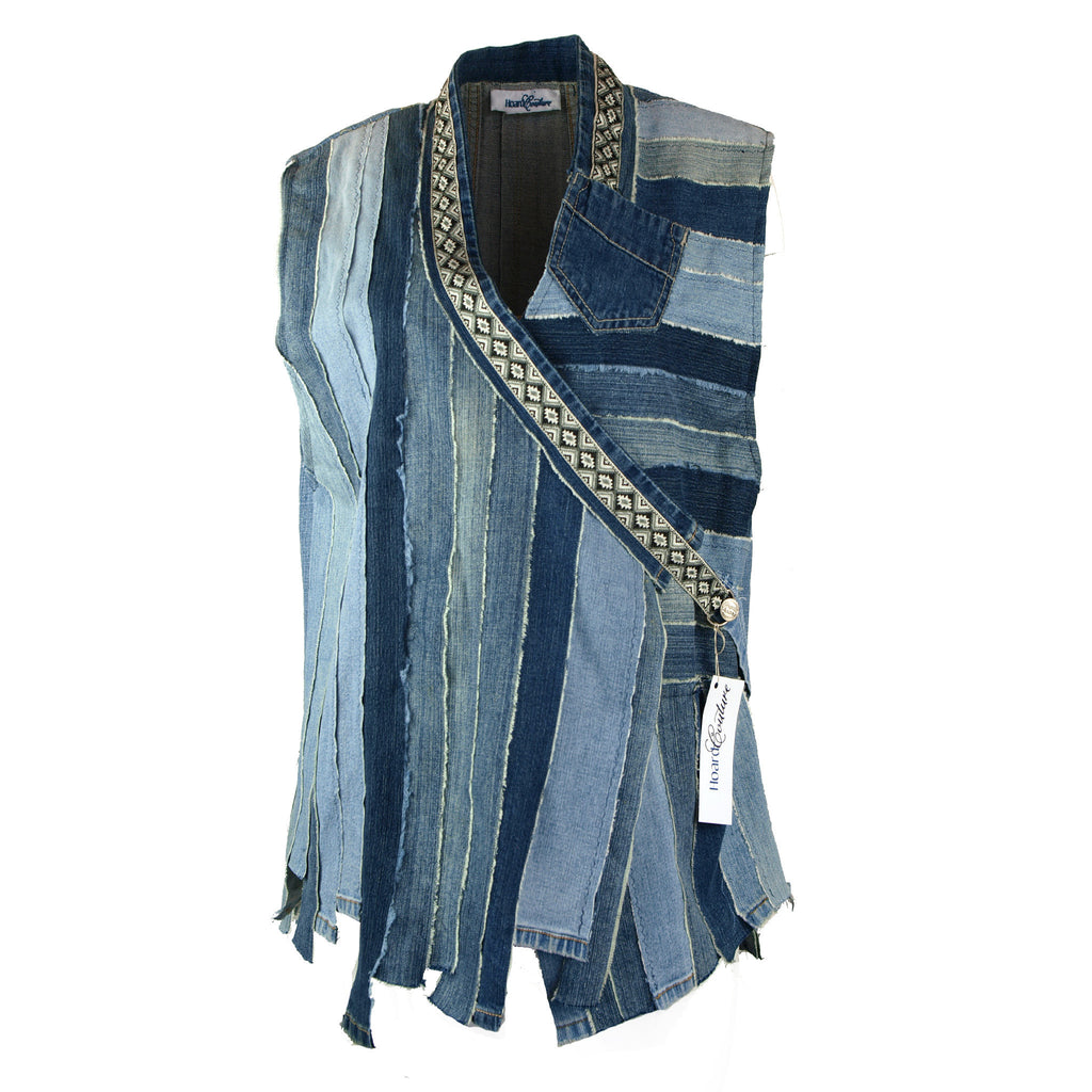 Hoard Couture Original Denim Fringe Vest