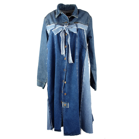 Hoard Couture Original Denim Bow Coat