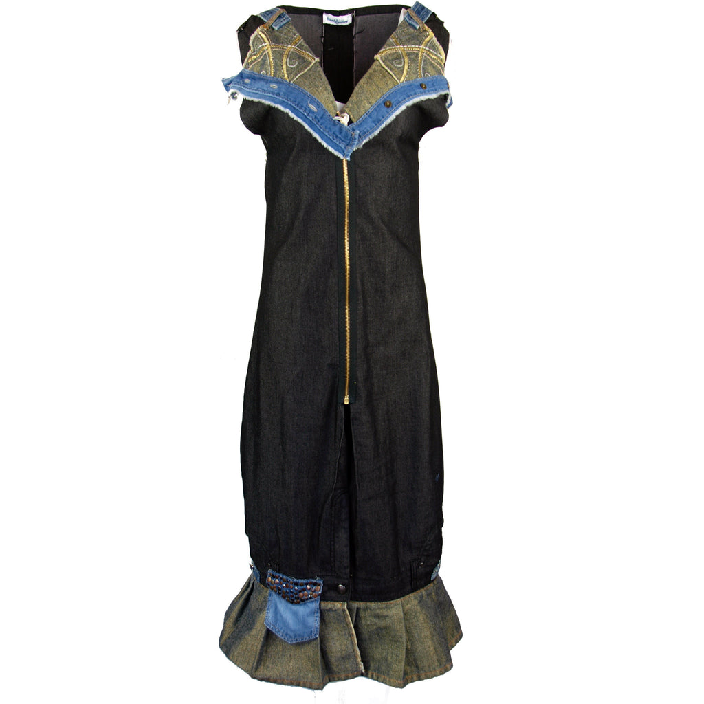 Hoard Couture Original Denim Metallic Dress