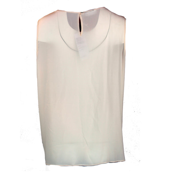 Ivory Tank Top with Neck Embellishment