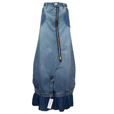 Hoard Couture Original Denim Maxi Skirt