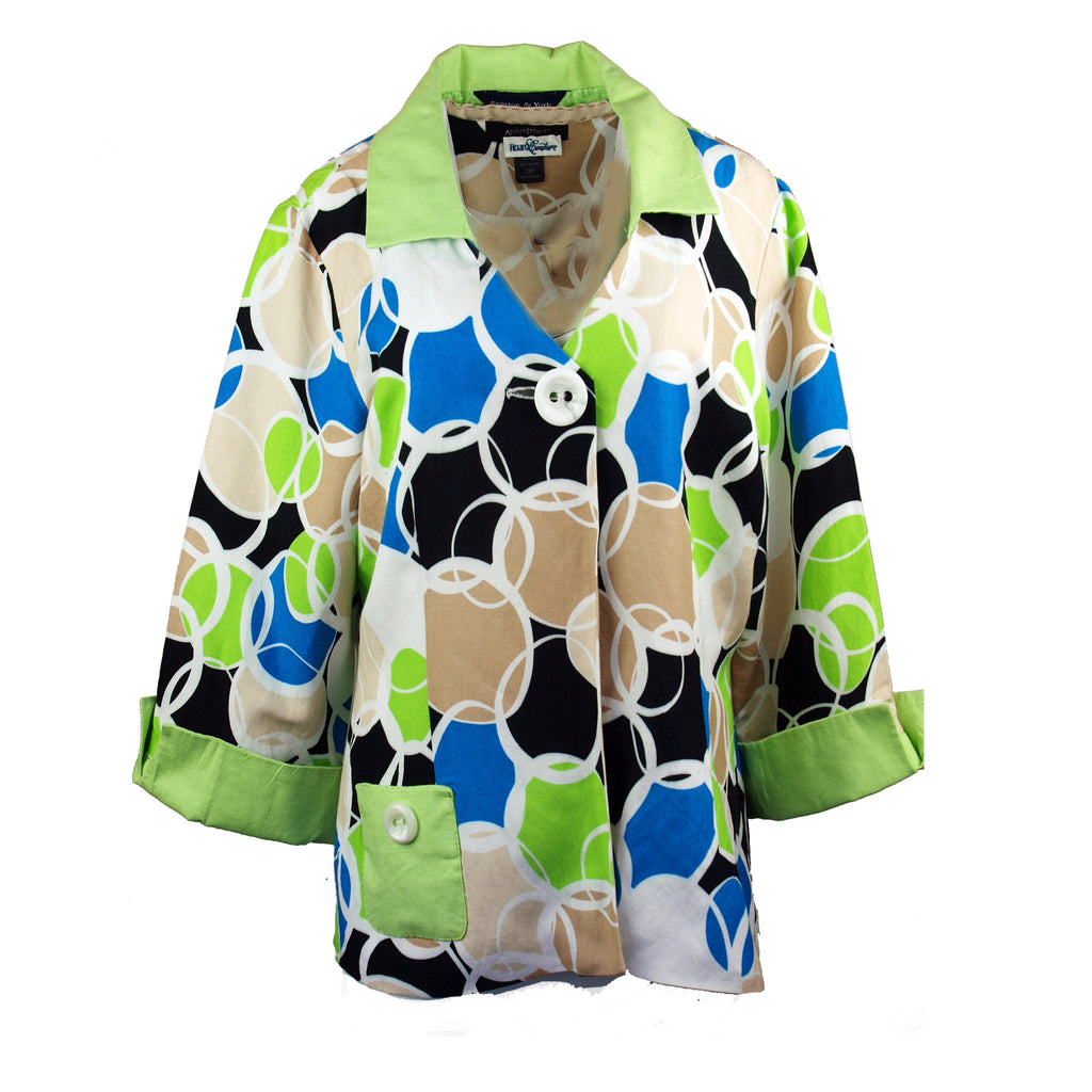 Swirl Pattern Swing Coat