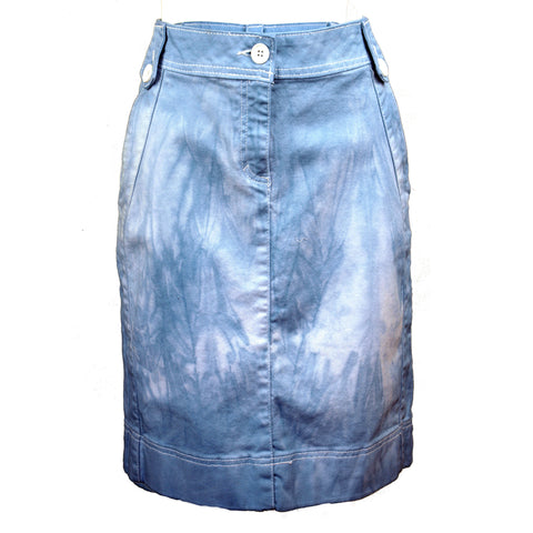 Hand Dyed Denim Skirt