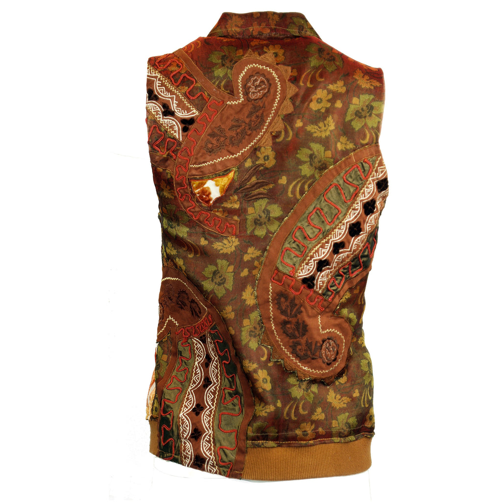 Paisley Applique Vest