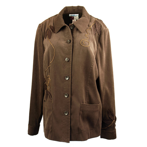Brown Faux Suede Jungle Jacket