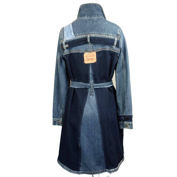 Hoard Couture Original Denim Belted Coat