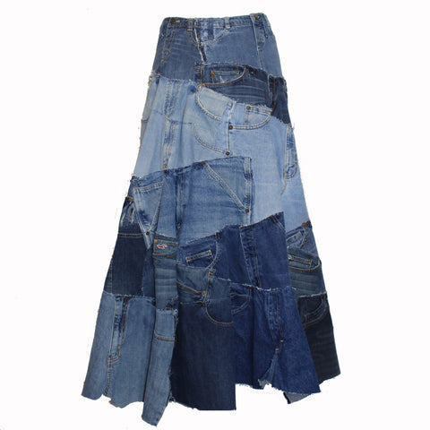 "Hoard Couture Original Denim ""29 Parts of Pants"" Skirt"