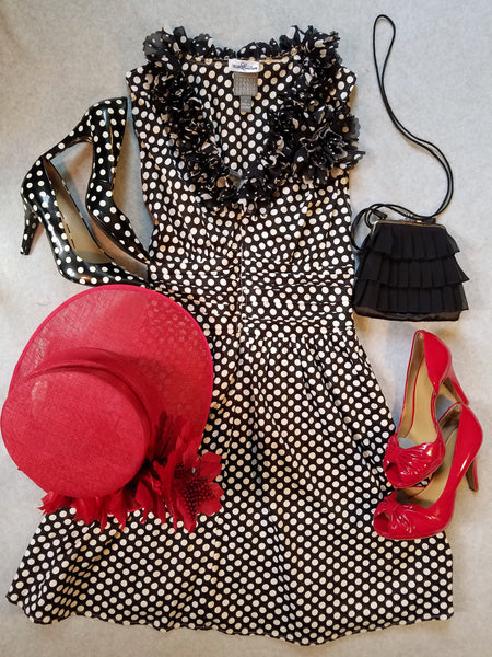 '40's Inspired Polka Dot Dress