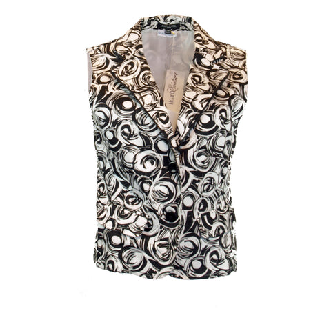 Swirl patterned vest
