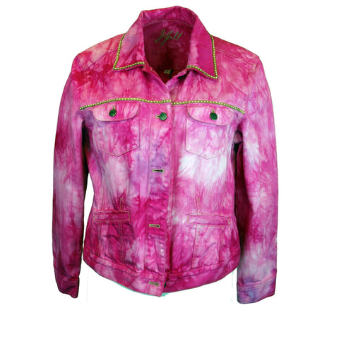 Hot Pink Dyed Denim Jacket