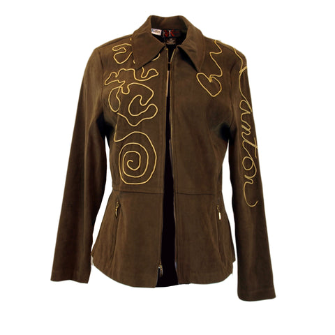 "Script ""Canton"" Zippered Jacket"