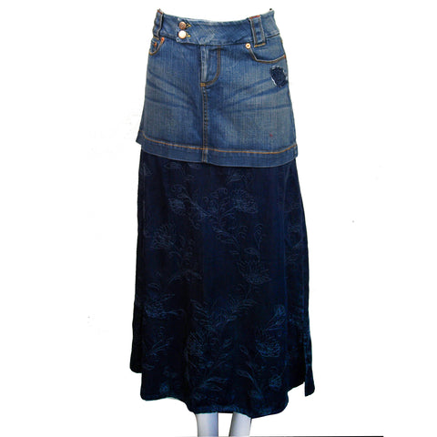 Denim Skirt Combo