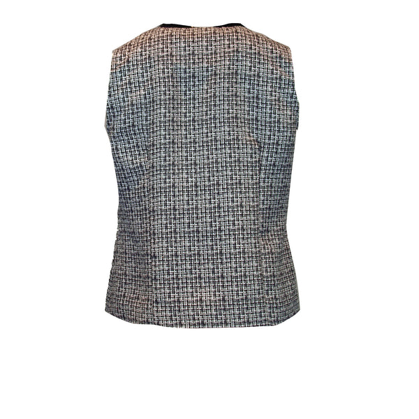 Tweed Vest with Zippy Girl