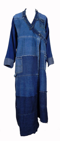 Hoard Couture Original Denim Maxi Robe Coat