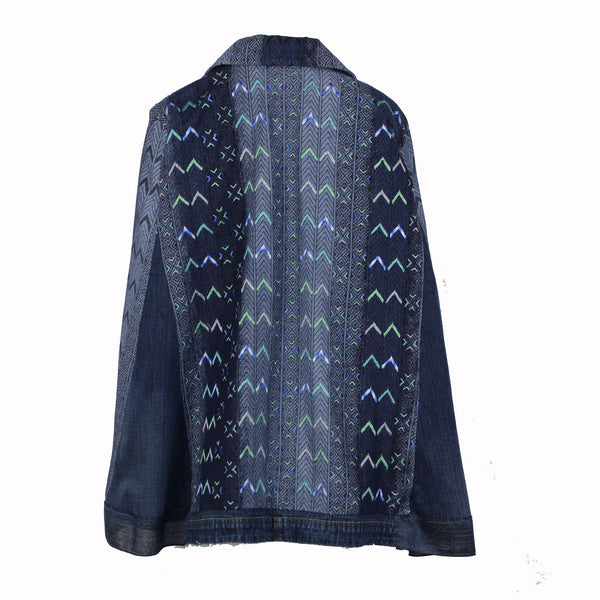 Hoard Couture Original Denim Beaded Cape