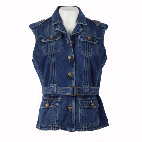 Hoard Couture Original Denim Belted Vest