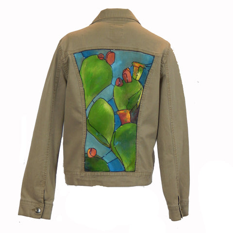 Hand Painted Cactus Jacket 2