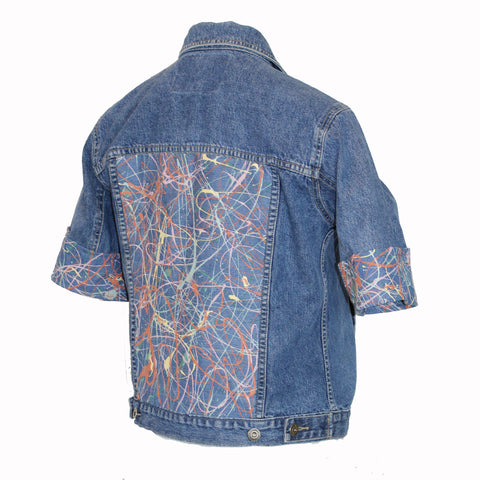 Denim Jacket with Blue Pollock Fabric