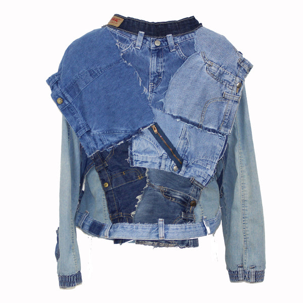Hoard Couture Original Denim Baby Bottom Bomber Jacket