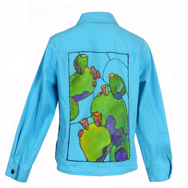 Hand Painted Cactus Jacket 1