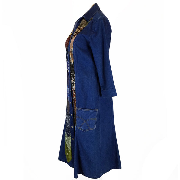 Hoard Couture Original Denim Cascade Coat