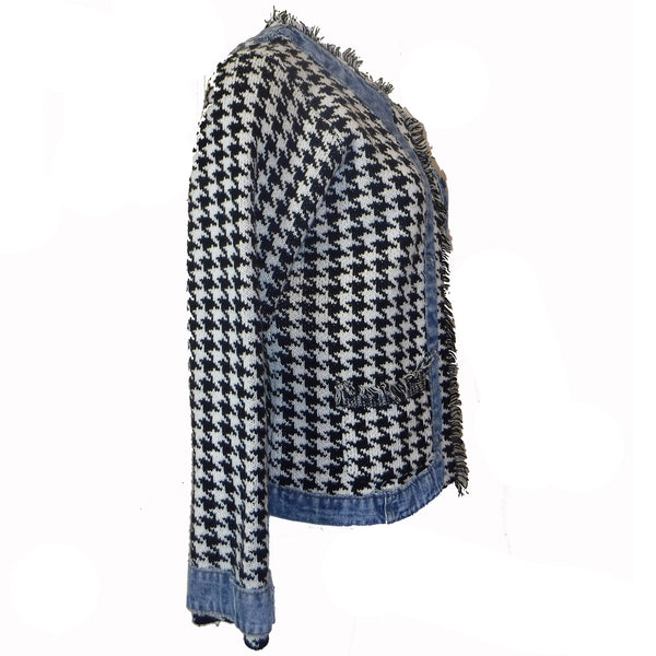 Houndstooth and Denim Sweater