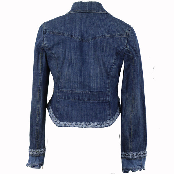 Hoard Couture Original Denim Crop Tail Jacket