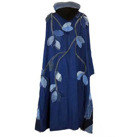 Hoard Couture Original Denim Forest Cape