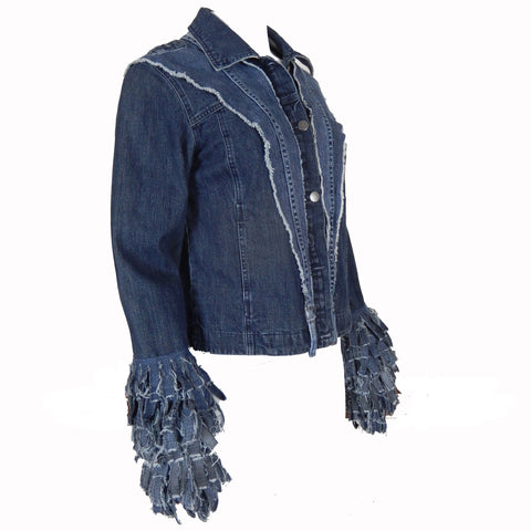 Hoard Couture Original Denim Funky Fringe Jacket