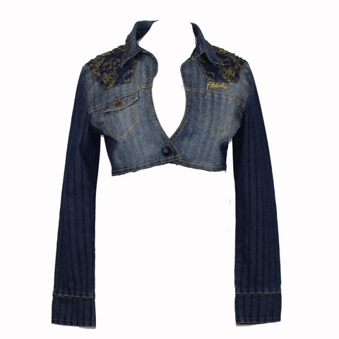 Hoard Couture Original Denim Gold Trim Jacket