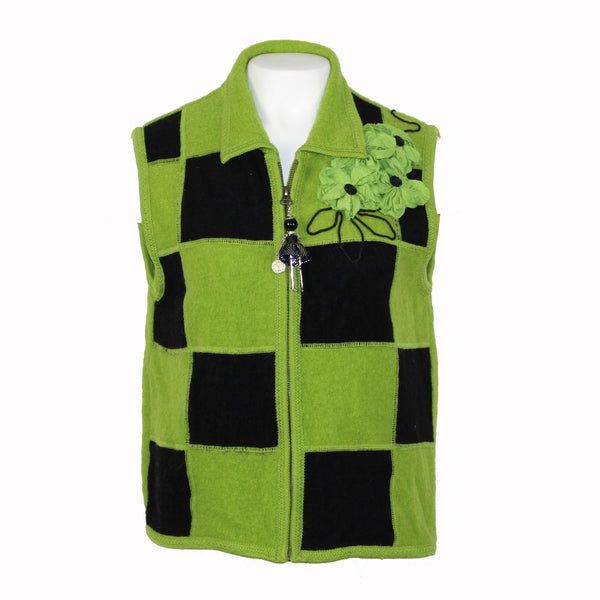 Block Square Wool Vest
