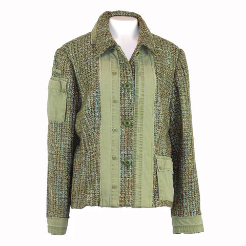 Green Tweed with Sage Denim