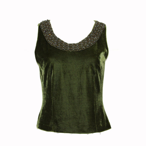 Velveteen Tank with Beading
